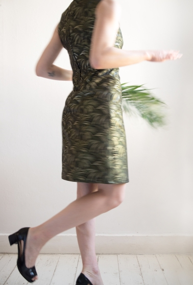 Chloe-Mullaney-House-of-Hackney-Metallic-Palmeral-60s-Shift-Dress-10