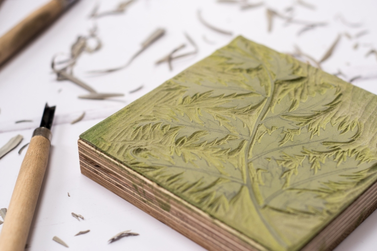 lino-cut-block-printed-fern-13