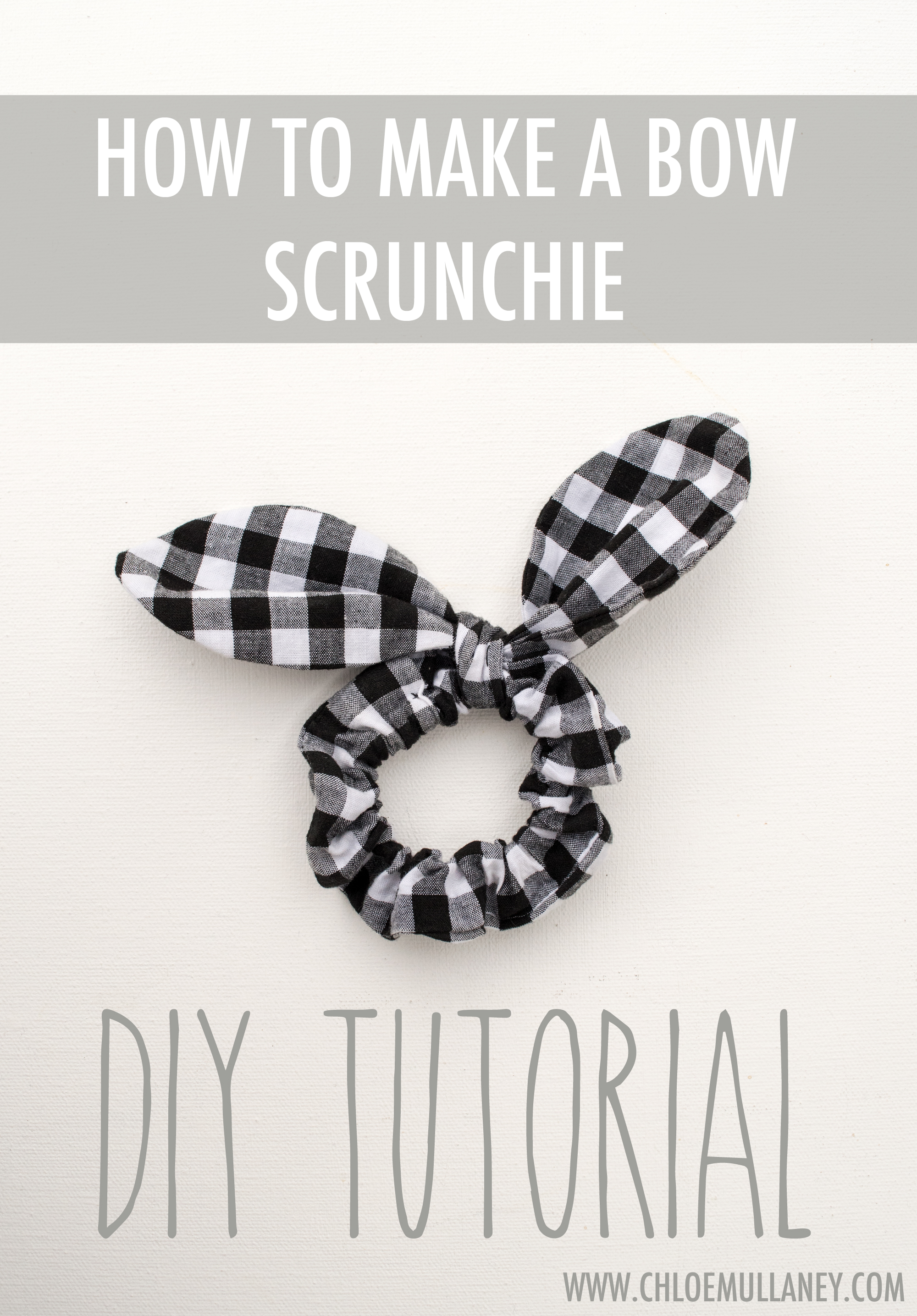 How to make a bow scrunchie free DIY sewing tutorial